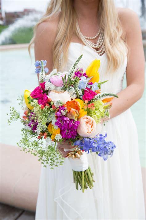 A Spring Wildflower Bridal Bouquet