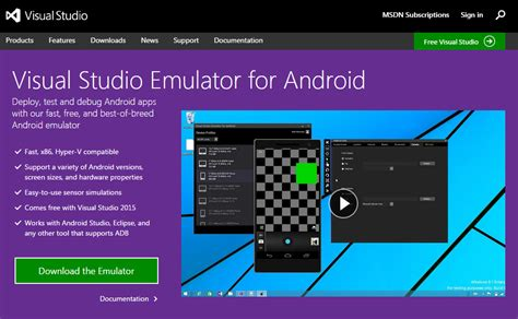 emulator for android microsoft shapes visual studio emulator for android