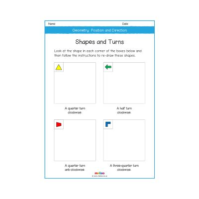 geometry position and direction year 2 worksheets primary maths ks1 melloo