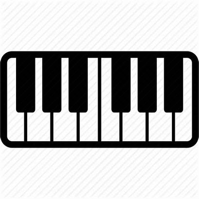Piano Keyboard Icon Instrument Play Icons Instruments