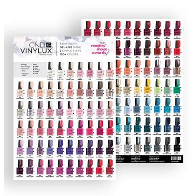 vinylux color chart marketing support insight cosmetics