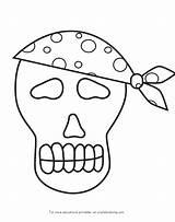 Coloring Pirate Skull Skulls Skeleton Template sketch template