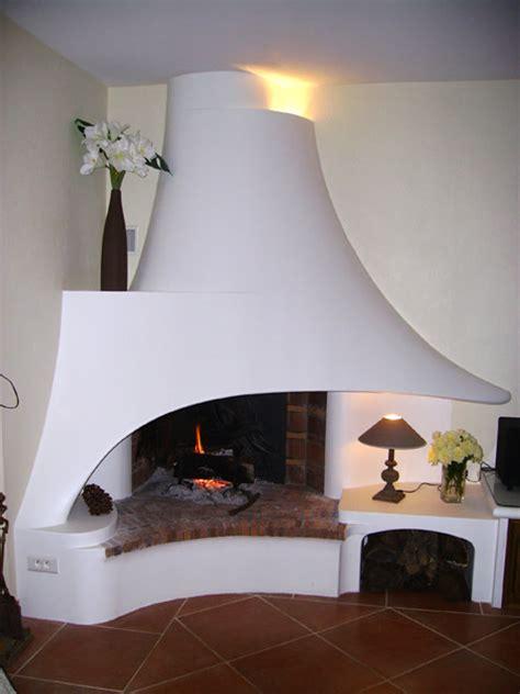 hotte cuisine déco cheminée d angle