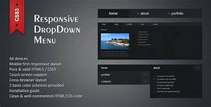 responsive html5 css3 dropdown menu by twelve codecanyon With html5 drop down menu template