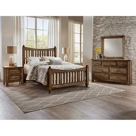 bernie and phyls bedroom sets maple road syrup nightstand nightstands bedroom