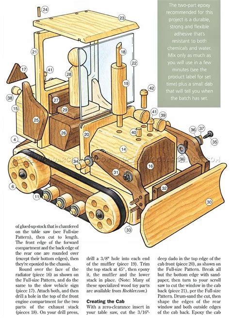 wooden toy bulldozer plans woodarchivist