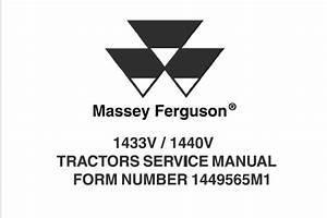 Massey Ferguson 1433v    1440v Tractors Service Repair Manual  U2013 Service Manual Download