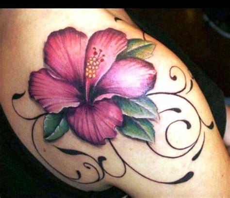 hibiscus tattoos tattoos flower tattoo shoulder