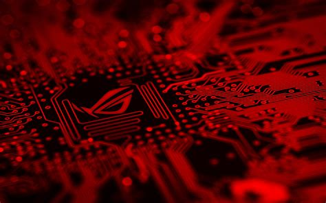 3840x2400 Republic Of Gamers Motherboard Red Background