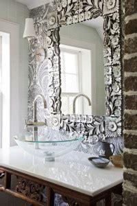 sea shell mirror silver rustic farmhouse vanity bathroom