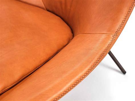 comfortable leather lounge chair cross leg chair by