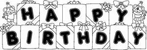 Best Birthday Clip Art Black And White #9148 - Clipartion.com
