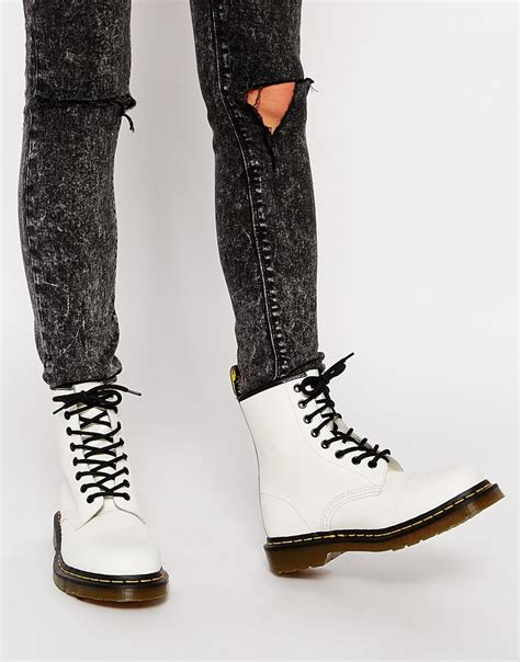 dr martens modern classics white smooth   eye boots  white lyst