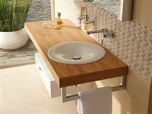 Meuble Salle De Bain Suspendu : meuble pour salle de bain basse suspendu avec tiroirs ~ Melissatoandfro.com Idées de Décoration