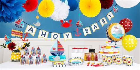 ahoy nautical baby shower decorations party city