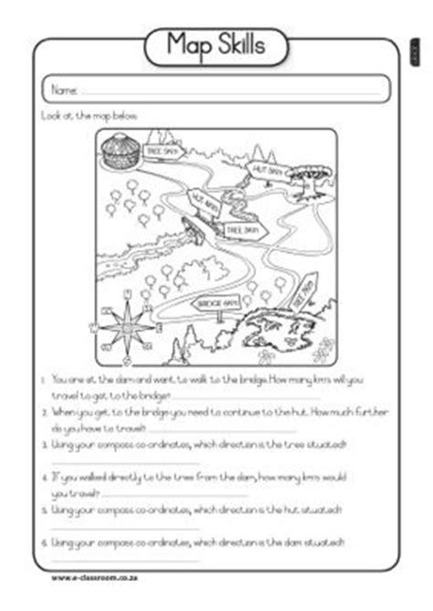 map skills worksheet math social studies