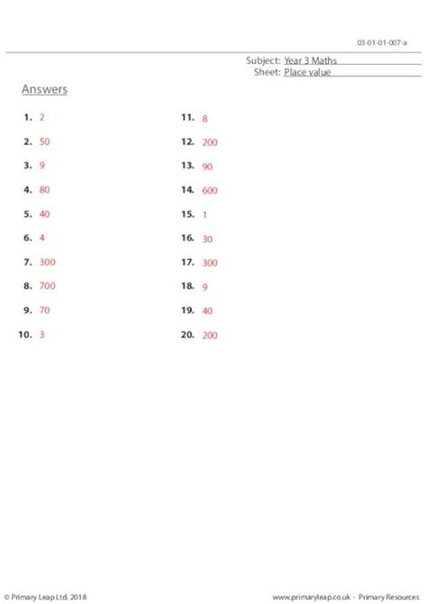 place value 1 primaryleap co uk