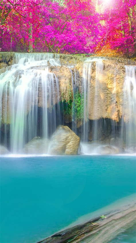 Wallpaper Iphone 7 Water Fall by Waterfall Kakskad River Iphone Wallpaper Iphone Wallpapers