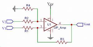 Differential Amplifier Or Voltage Subtractor Circuit