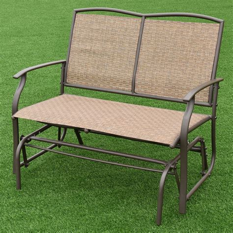 Loveseat Glider Outdoor by 2 Person Outdoor Patio Swing Glider Loveseat Bench Rocking