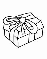 Box Gift Christmas Coloring Pages Boxes Present Gifts Getcoloringpages Templates Presents sketch template