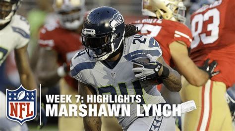 marshawn lynch highlights week  seahawks  ers