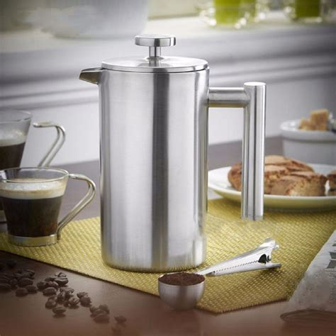 These coffee machines need a specialist operator. 350ml French Press Tea Maker Handy Coffee Machine Doublewall Stainless Steel Coffee Plunger ...
