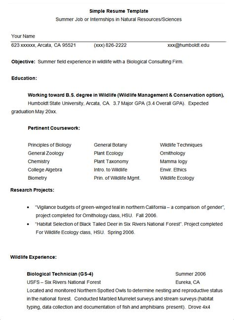 Simple Resume Template  46+ Free Samples, Examples. Sample Of Resume For Mechanical Engineer. Sample Of Interest In Resume. How Do You Format A Resume. Furniture Sales Resume Sample. Resumes For Experienced Professionals. How To Create Resume Format. Security Duties And Responsibilities Resume. Server Resume Skills Examples
