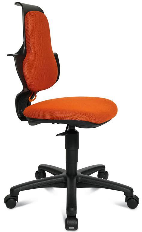 orange siege siege de bureau ergonomique pour enfant lucka