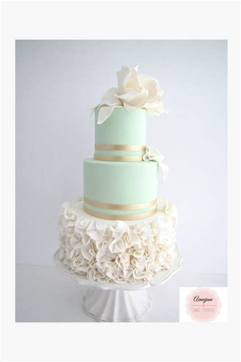 25 Mint Wedding Cakes Youll Love Mon Cheri Bridals