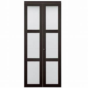 shop reliabilt 36 in x 80 in espresso 3 lite tempered With 36 frosted glass interior door