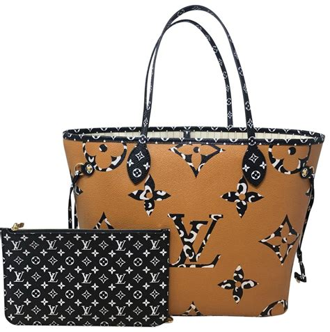 louis vuitton neverfull jungle mm white coated canvas tote tradesy