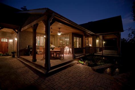 house porch at night porches hgtv