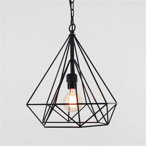 geometric wire cage pendant light tudo co tudo