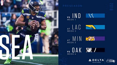 seattle seahawks  preseason schedule announced