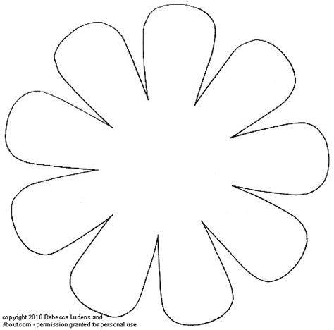 daisy flower printable template mike folkerth king  simple