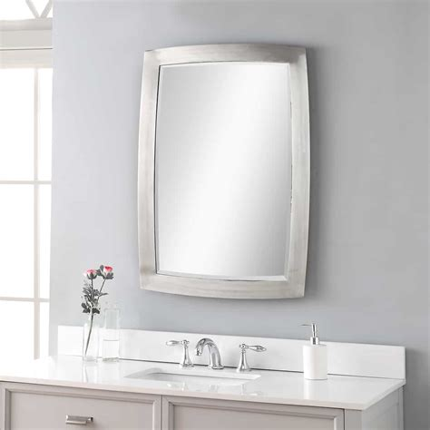 haskill brushed nickel mirror by uttermost