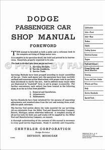 1937 Dodge Car Repair Shop Manual Reprint
