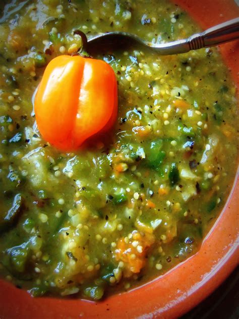 hispanic kitchen recipes blackened tomatillo poblano salsa with habanero pepper