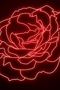 640x960 Neon Rose Iphone 4 wallpaper