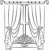 Curtain Drawing Stage Getdrawings sketch template