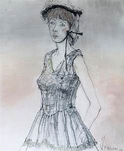 jean jansem french 1920 2013 femme a la robe noire 1978 With robe 1920 femme