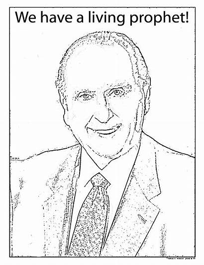 Lds Coloring Pages Primary Clipart President Prophet