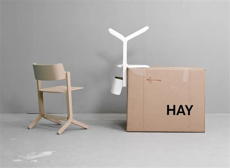 hay chaise chaise empilable ru bois gris hay