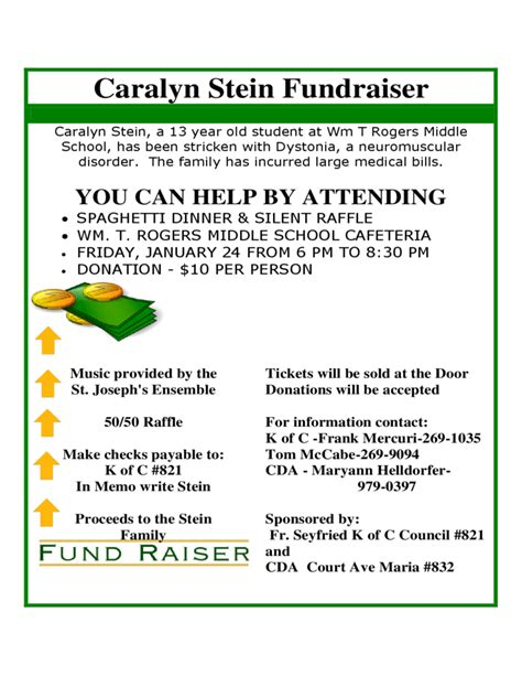 sample flyer  fundraiser