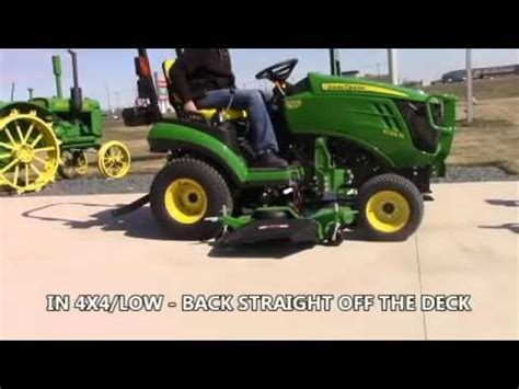 john deere 1025r mower deck removal and install youtube