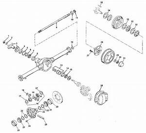 Jeep Dana 44 Tapered Axle Parts  Jeep Dana 41 Tapered Axle