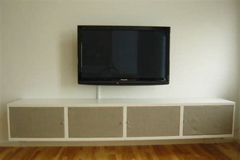 hideaway tv cabinet ikea great way to create cabinet doors use fabric and canvas