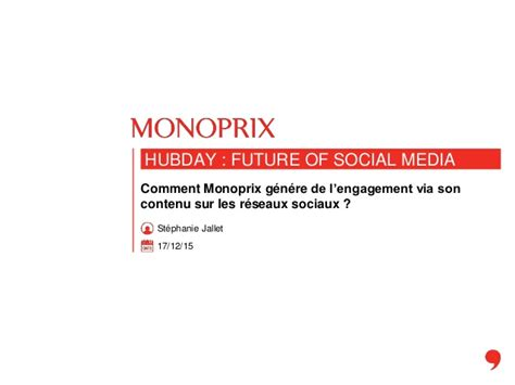 hubday monoprix comment monoprix génère de l 39 engagement via c