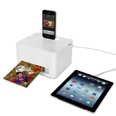 iphone 6 printer the any device photo printer hammacher schlemmer